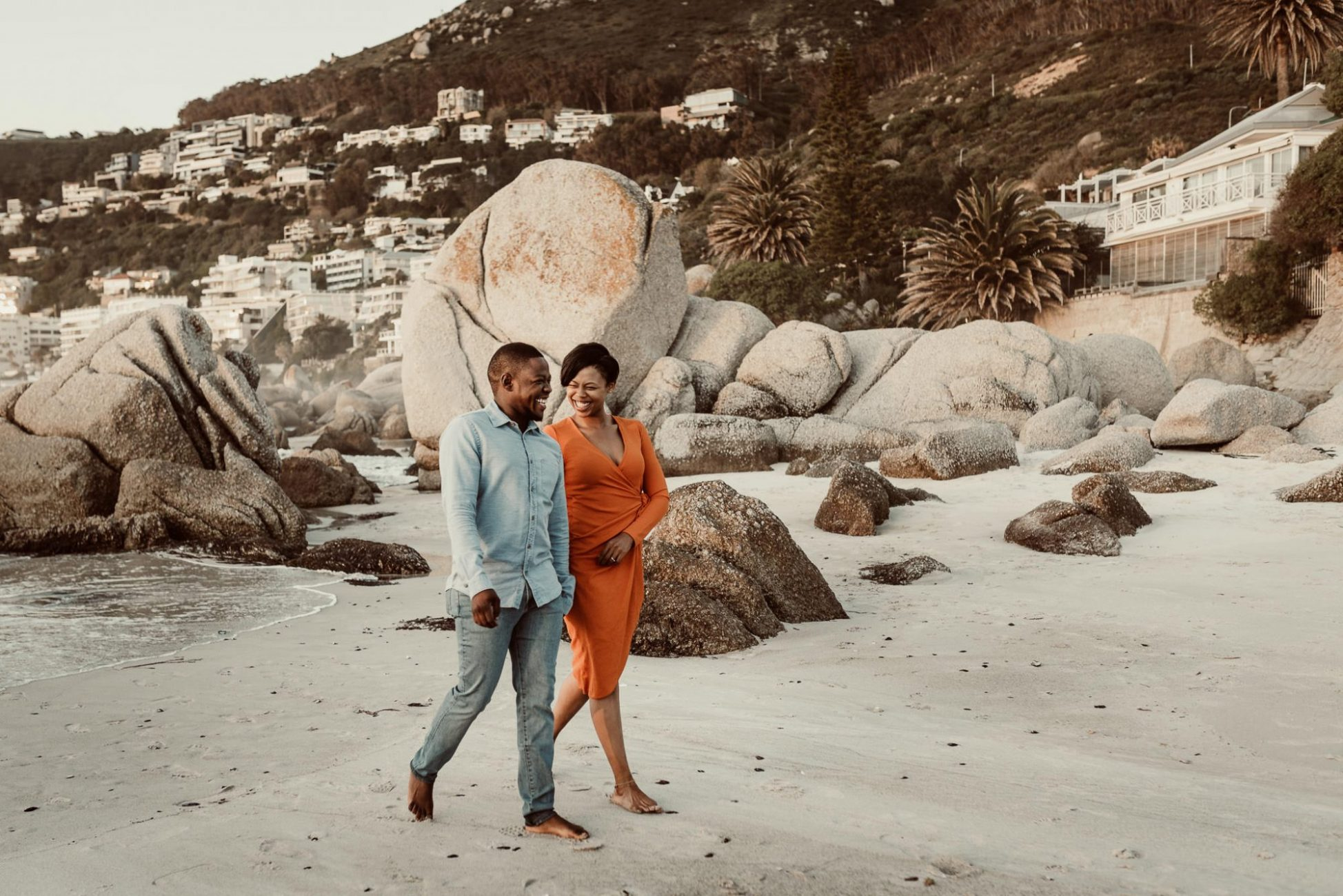 clifton_beach_engagement_cape_town_thabang_william_walking_laughing
