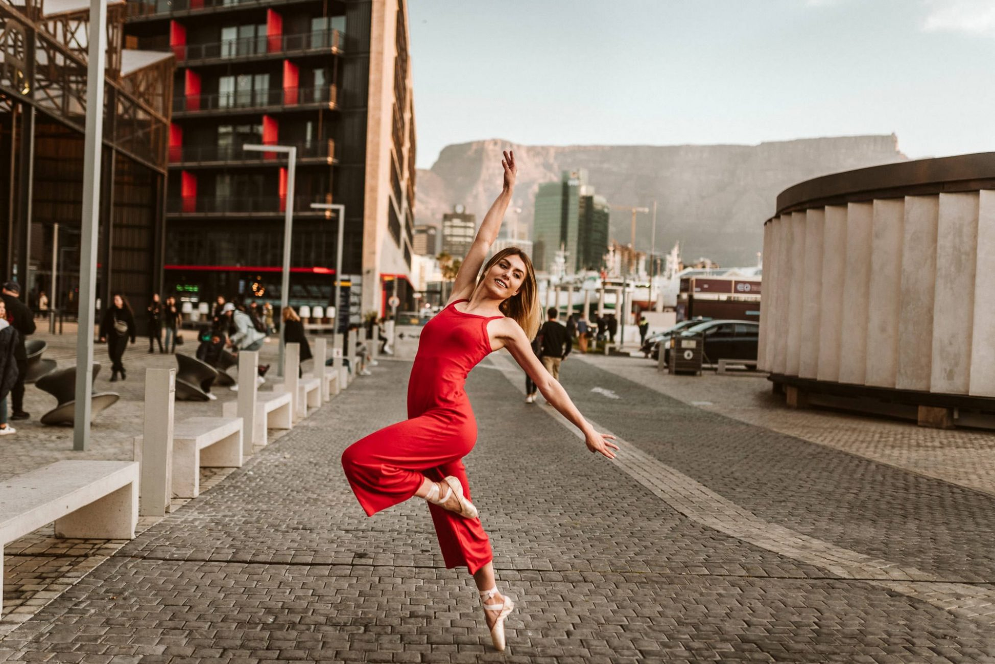 ballerina-cape-town-photography-dancer-red-jumpsuit-blonde-model-cr8tiveduo-capetownphotography-portrait-table-mountain